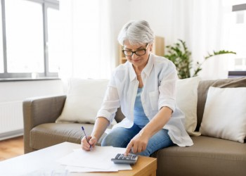 finances, savings, annuity insurance and people concept - senior