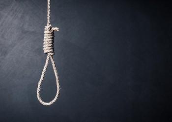 the noose against sullen background, failure or commit suicide c