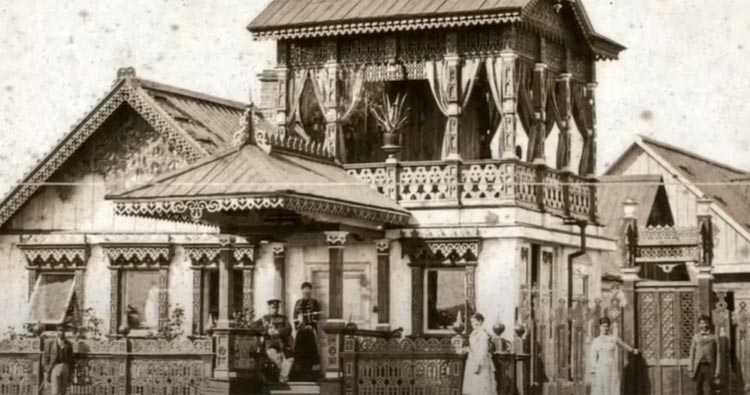 Раритетное фото уникального деревянного дома, где жил Дмитрий Яворницкий, как только переехал в Екатеринослав