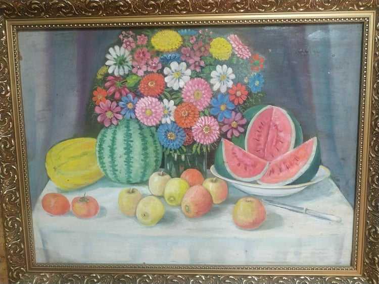 Через більше, ніж півстоліття натюрморт Василя Мельника зберіг соковиті барви
