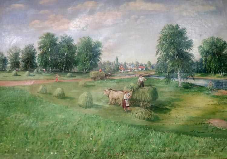 Василь Мельник дуже любив малювати рідне село