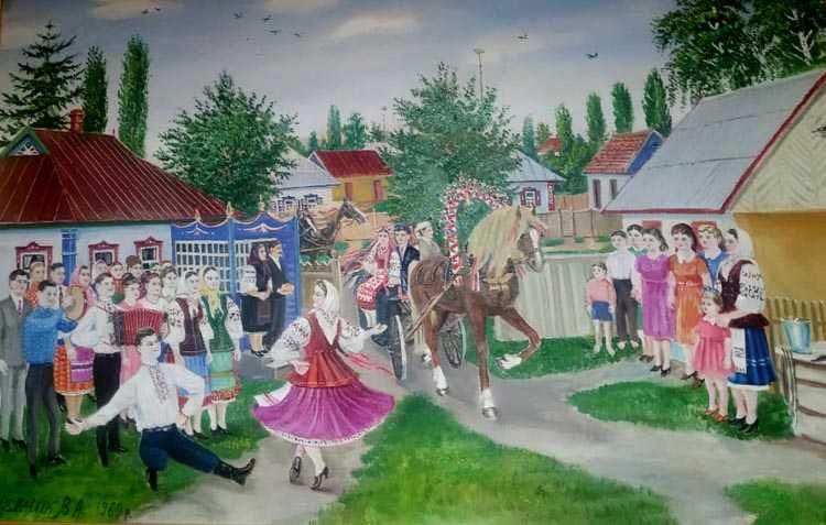 Яскрава картина Василя Мельника «Українське весілля»