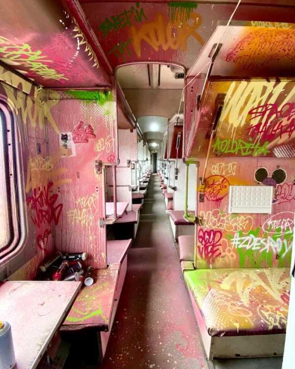 Днепровский мастер создал «два мира» в одном вагоне