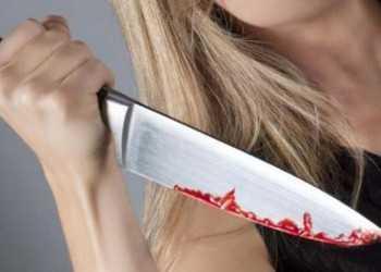 с ножом