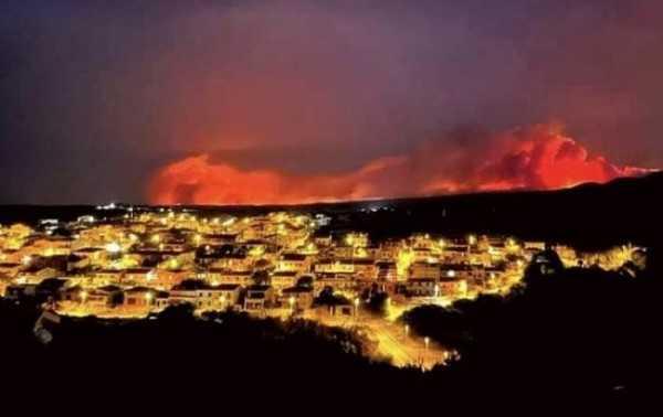 пожар Сардиния
