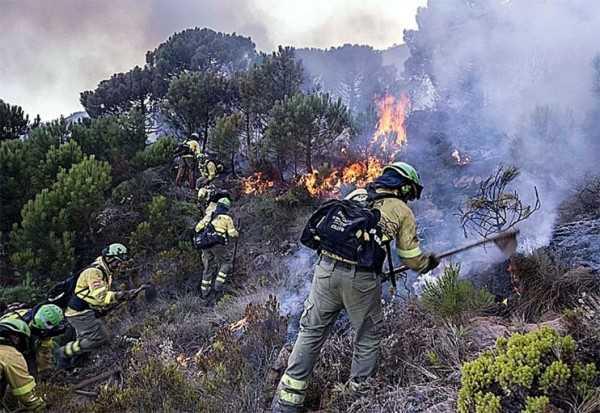 пожар Андалусия