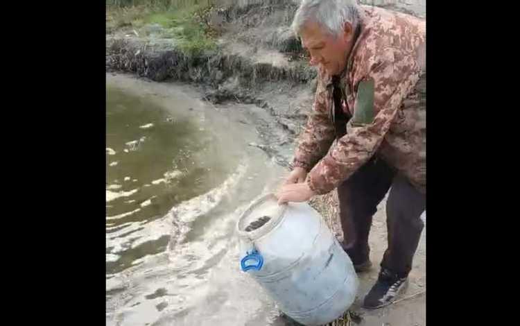 Жители Гвардейского всем миром собрали денег на зарыбление водоема